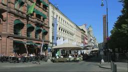 オスロ市街とカフェ Footage