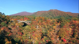 Naruko Gorge in autumn Stock Video Footage