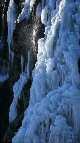 凍るフンベの滝 Stock Video Footage