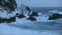 Stormy Sea of Japan in winter Stock Video Footage
