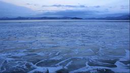 Freezing Lake Kussharo Stock Video Footage