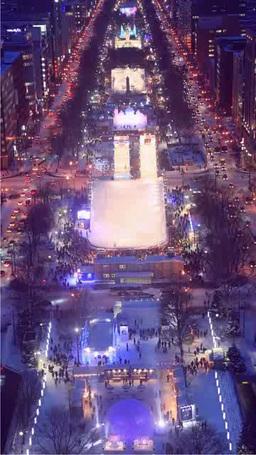 テレビ塔からのさっぽろ雪まつり Stock Video Footage