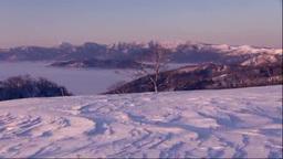小清水峠から朝の屈斜路湖 Footage