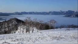 小清水峠から屈斜路湖 Stock Video Footage