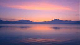 Dawn at Lake Tazawa Stock Video Footage