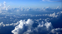 View cumulonimbus clouds from an airplane Stock Video Footage