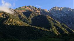 紅葉の上高地の朝の穂高連峰 Footage