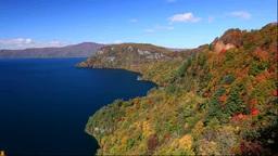旧瞰湖台から紅葉の十和田湖 Footage
