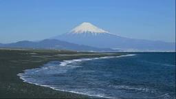 静岡県 三保の松原と富士山 Stock Video Footage