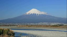 静岡県 富士山と東海道新幹線 Stock Video Footage