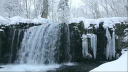 冬の奥入瀬渓流の銚子大滝 Footage
