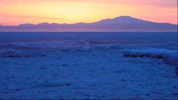 北海道 流氷と知床半島の夜明 Footage