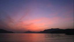 伯方島より瀬戸内海の夕陽 Stock Video Footage