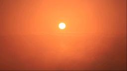 摩周湖から夕焼と霧 Stock Video Footage