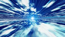光と雲の空間 Stock Video Footage