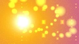 オレンジの球体と光の空間 Stock Video Footage