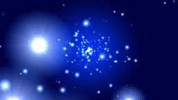 青い空間に光の放射 Footage