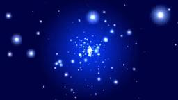 青い空間に光の放射 Stock Video Footage