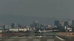 A plane landing Footage