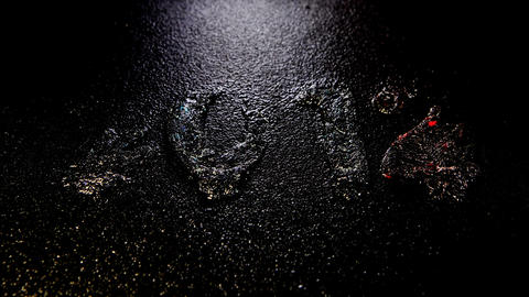 Happy New Year 2012, Time lapse ice is melting figures,... Stock Video Footage