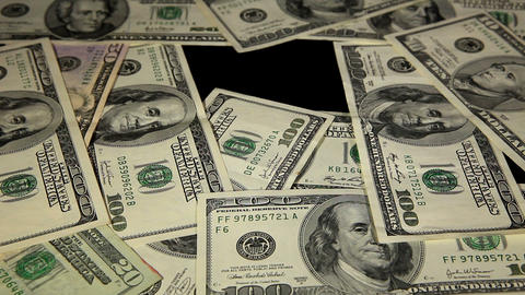 Dollar Background, Timelapse Stock Video Footage