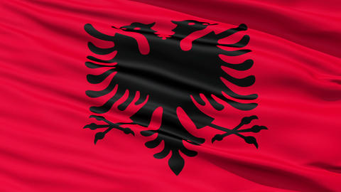 Waving national flag of Albania Stock Video Footage