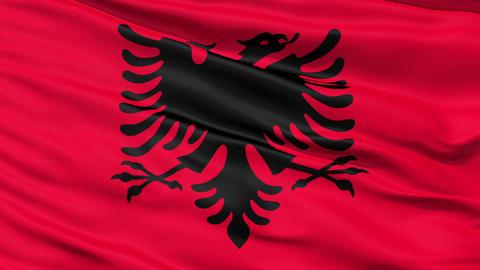 Waving national flag of Albania Stock Video Footage