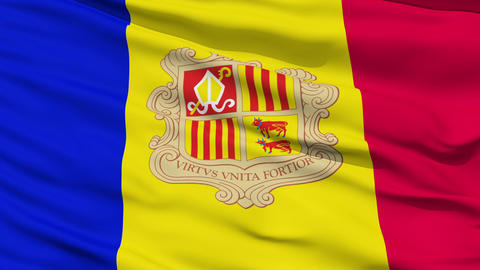 Waving national flag of Andorra Animation