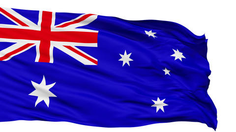 Waving national flag of Australia Stock Video Footage