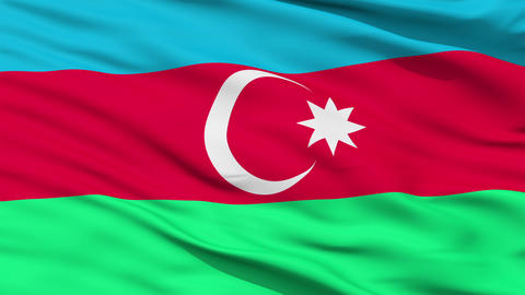 Waving national flag of Azerbaijan Animation