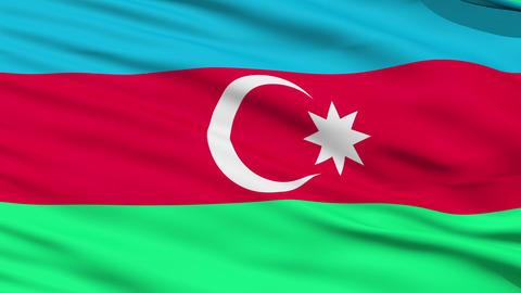 Waving national flag of Azerbaijan Stock Video Footage