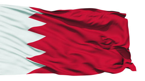 Waving national flag of Bahrain Stock Video Footage