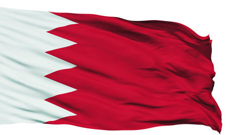 Waving national flag of Bahrain Animation