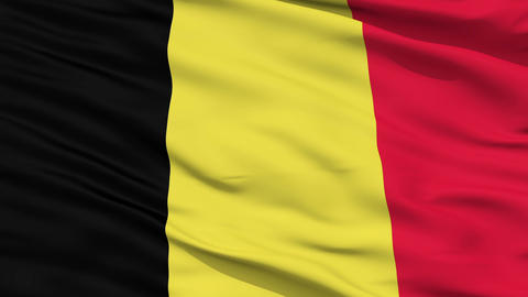 Waving national flag of Belgium Animation
