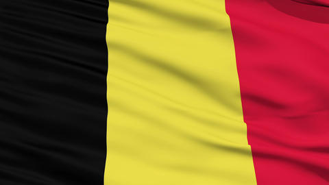 Waving national flag of Belgium Stock Video Footage