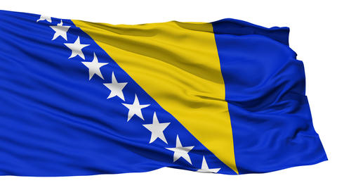 Waving national flag of Bosnia and Herzegovina Stock Video Footage