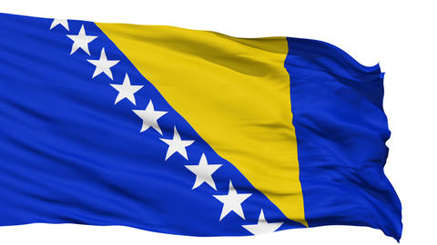 Waving national flag of Bosnia and Herzegovina Animation
