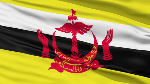 Waving national flag of Brunei Stock Video Footage