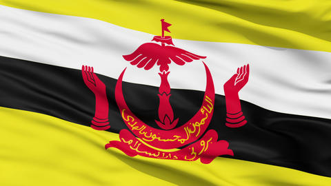 Waving national flag of Brunei Animation