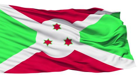 Waving national flag of Burundi Stock Video Footage