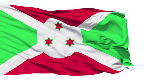 Waving national flag of Burundi Stock Video Footage