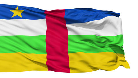 Waving national flag of Central Africa Animation