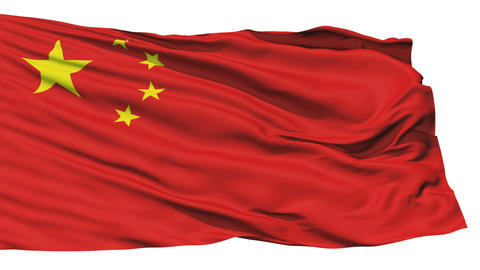 Waving national flag of China Stock Video Footage
