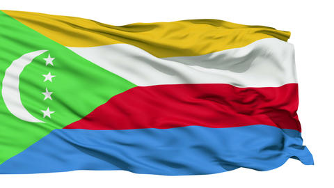 Waving national flag of Comoros Stock Video Footage
