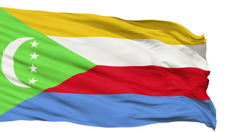 Waving national flag of Comoros Animation