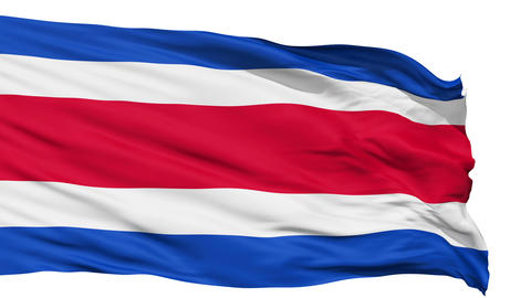 Waving national flag of Costarica Animation