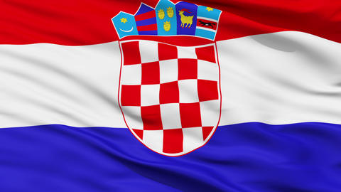 Waving national flag of Croatia Stock Video Footage