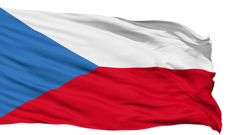 Waving national flag of Czech Stock Video Footage