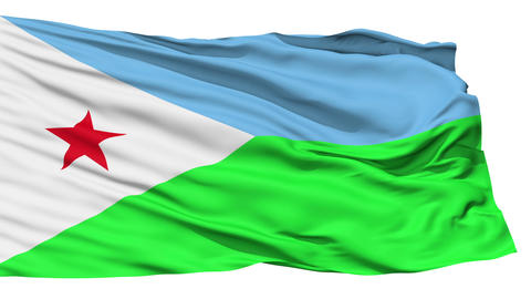 Waving national flag of Djibouti Stock Video Footage