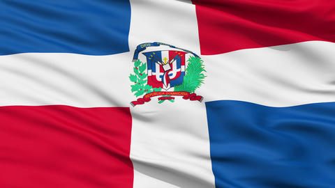 Waving national flag of Dominican Stock Video Footage